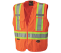 Hi-Viz Safety Vest - 5 Point Tear-Away - Polyester / 693 Series