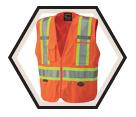 Hi-Viz Safety Vest - 5 Point Tear-Away - Polyester / 693 Series