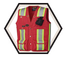 Surveyor's / Supervisor's Vest - Unlined - Oxford Polyester / 695 Series