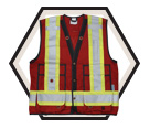 Surveyor's Safety Vest - Unlined - Polyester / VIK6165R Series *OPEN ROAD®