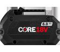 Battery - 8.0 Ah - 18V Li-Ion / GBA18V80 *CORE18V