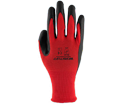 Palm Coated Glove - Nitrile - Red / 75-1185