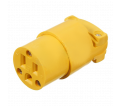 3-Wire Female Connector - 15A - Plastic / 6503