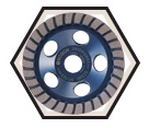 "Diamond Cup Wheel - 5"" - Fine / DC530 *TURBO ROW"