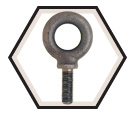 Metric Eye Bolt - M20 -2.5 x 57.0