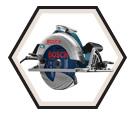 "Circular Saw (w/ Acc) - 7-1/4"" - 15.0 amp / CS10"