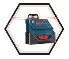 Laser Level (Kit) - 360° Line - Red - AA Battery / GLL150ECK