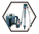 Laser Level (Kit) - Rotary - Red - D Battery / GRL400H Series