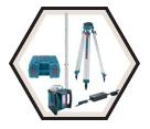 Laser Level (Kit) - Rotary - Red - Built in Battery / GRL500HCK
