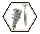 Drywall Anchor - #8 - Zinc / 64 Series *E-Z ZINC