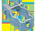 "Bolt Close Conduit/Pipe Clamp - 1.41"" – 1.74"" x 1/4"" - Steel / CD3B *ELECTROGALVANIZED"