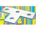 """4 Hole Flat Tee Plate - 5 3/8"""" - Steel / F250000EG *ELECTROGALVANIZED"""