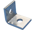 "1-1 Hole Angle Bracket - 2 1/4"" - Steel / L10000EG *ELECTROGALVANIZED"