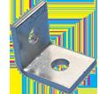 """1-1 Hole Angle Bracket - 2 1/4"""" - Steel / L10000EG *ELECTROGALVANIZED"""