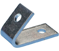 1-1 Hole Closed Corner Angle Bracket - 45° - Steel / L470450EG *ELECTROGALVANIZED