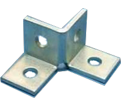 Double Corner Connector - 4 Hole - Steel / W120000EG *ELECTROGALVANIZED