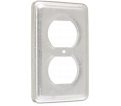 Outlet Cover Plate - Duplex - Metal / 1307