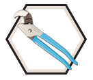 "Plier - Tongue & Groove - Round Surfaces - 9.5"" / 410 *NUTBUSTER®"