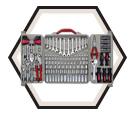 "Hand Tool Set - 170 pc - 1/4"" & 3/8"" & 1/2"" - SAE/Metric / CTK170MP *PRO"