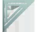 """Aluminum Rafter Squares - 7"""""""