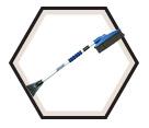 Snow Brush w/ Scraper - Telescopic / 645-250