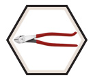 High-Leverage Diagonal-Cutting Pliers - 9-3/16""