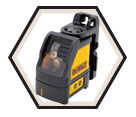 Laser Level (Kit) - Red - Cross Lines - AA Battery / DW088K
