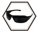Safety Glasses - Polycarbonate Lens - Nylon / B436 Series *TORQUE BRAZEAU