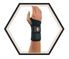 Wrist Support - Ambidextrous - Black / 675 *PRO FLEX