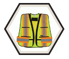 Traffic Vest - 5 Point Tear Away - Mesh / TV100 Series