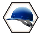 Hard Hat - Ratchet Suspension - Cap Style / P2AQRW *ROUGHNECK