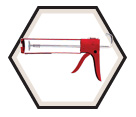 Hex Rod Parallel Frame Caulking Gun - 300 mL / 114D