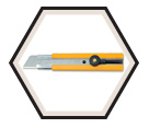 Utility Knife - Ratchet-Lock - Yellow / H-1 *EXTRA HEAVY-DUTY